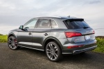 Picture of a 2018 Audi SQ5 quattro in Daytona Gray Pearl Effect from a rear left perspective