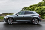 Picture of a 2018 Audi SQ5 quattro in Daytona Gray Pearl Effect from a side perspective