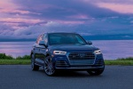 Picture of a 2020 Audi SQ5 quattro in Navarra Blue Metallic from a front right perspective