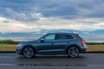 Picture of a 2020 Audi SQ5 quattro in Daytona Gray Pearl Effect from a left side perspective
