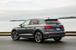 Picture of a 2020 Audi SQ5 quattro in Daytona Gray Pearl Effect from a rear left three-quarter perspective