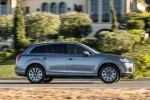 Picture of a driving 2018 Audi Q7 3.0T quattro in Graphite Gray Metallic from a right side perspective