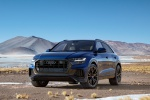 2019 Audi Q8 Premium 55 TFSI quattro in Galaxy Blue Metallic - Static Front Left View