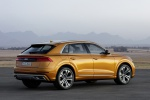 2019 Audi Q8 Premium 55 TFSI quattro in Dragon Orange Metallic - Static Rear Right Three-quarter View