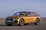 2019 Audi Q8 Premium 55 TFSI quattro in Dragon Orange Metallic - Static Front Left View