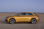 2019 Audi Q8 Premium 55 TFSI quattro in Dragon Orange Metallic - Static Side View