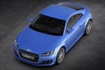 2016 Audi TT Coupe in Scuba Blue Metallic - Static Front Left Three-quarter Top View