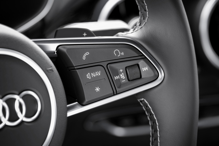 2018 Audi TTS Coupe Steering-Wheel Controls Picture