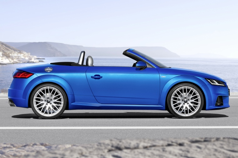 2018 Audi TT Roadster in Scuba Blue Metallic from a right side view