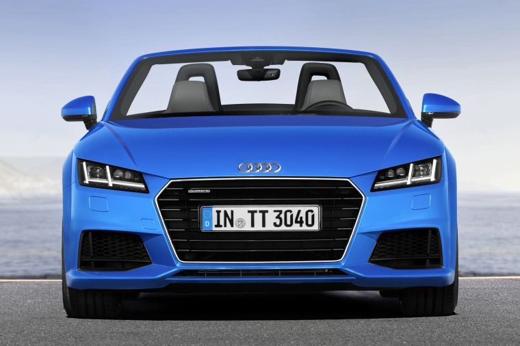 2018 Audi TT Roadster in Scuba Blue Metallic from a frontal view