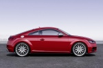 2018 Audi TTS Coupe in Tango Red Metallic - Static Side View