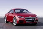 2018 Audi TTS Coupe in Tango Red Metallic - Static Front Right View