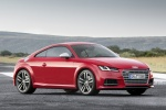 2018 Audi TTS Coupe in Tango Red Metallic - Static Front Right Three-quarter View