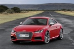2018 Audi TTS Coupe in Tango Red Metallic - Static Front Left View