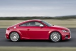 2018 Audi TTS Coupe in Tango Red Metallic - Driving Side View