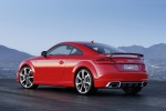2018 Audi TT RS Coupe in Catalunya Red Metallic - Static Rear Left Three-quarter View