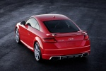 2018 Audi TT RS Coupe in Catalunya Red Metallic - Static Rear Left Three-quarter Top View