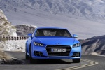 2018 Audi TT Coupe in Scuba Blue Metallic - Driving Frontal Right View