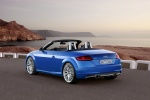 2018 Audi TT Roadster in Scuba Blue Metallic - Static Rear Left Three-quarter View