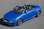 2018 Audi TT Roadster in Scuba Blue Metallic - Static Front Left Three-quarter Top View