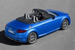 2018 Audi TT Roadster in Scuba Blue Metallic - Static Rear Right Three-quarter Top View