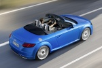 2018 Audi TT Roadster in Scuba Blue Metallic - Driving Rear Right Three-quarter Top View