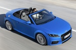 2018 Audi TT Roadster in Scuba Blue Metallic - Driving Front Right Three-quarter Top View