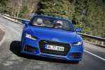 2018 Audi TT Roadster in Scuba Blue Metallic - Driving Frontal View