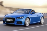 2018 Audi TT Roadster in Scuba Blue Metallic - Driving Front Left Three-quarter View