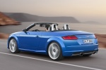 2018 Audi TT Roadster in Scuba Blue Metallic - Driving Rear Left Three-quarter View