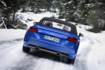2018 Audi TT Roadster in Scuba Blue Metallic - Driving Rear View
