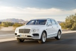 2018 Bentley Bentayga in Glacier White - Driving Front Left Three-quarter View