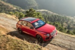 2018 Bentley Bentayga in Rubino Red Metallic - Driving Front Right Three-quarter Top View