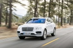 2019 Bentley Bentayga in Glacier White - Driving Front Left View