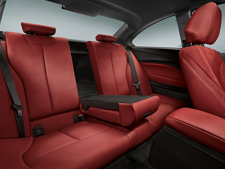 2014 BMW M235i Rear Seats In Coral Red