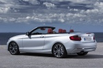 2015 BMW 228i Convertible in Glacier Silver Metallic - Static Rear Left Three-quarter View