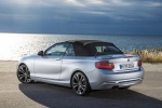 Picture of 2015 BMW 228i Convertible with top closed in Glacier Silver Metallic