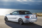 Picture of 2016 BMW 228i Convertible with top closed in Glacier Silver Metallic