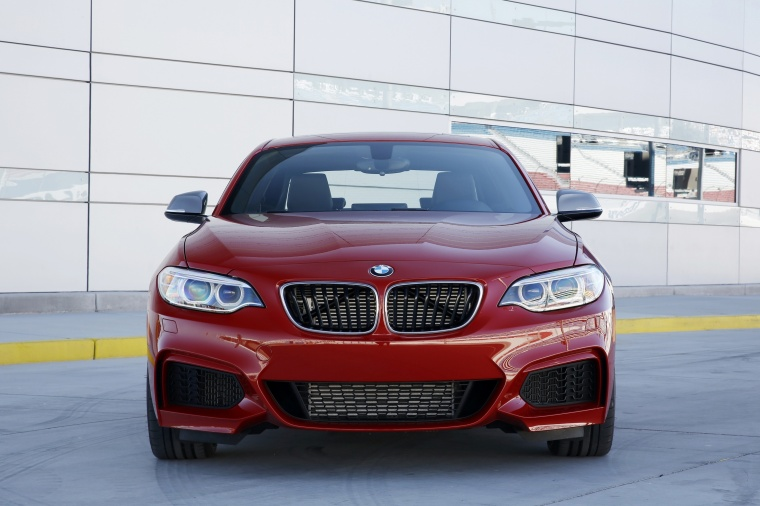 2017 BMW 2-Series M Coupe in Melbourne Red Metallic from a frontal view