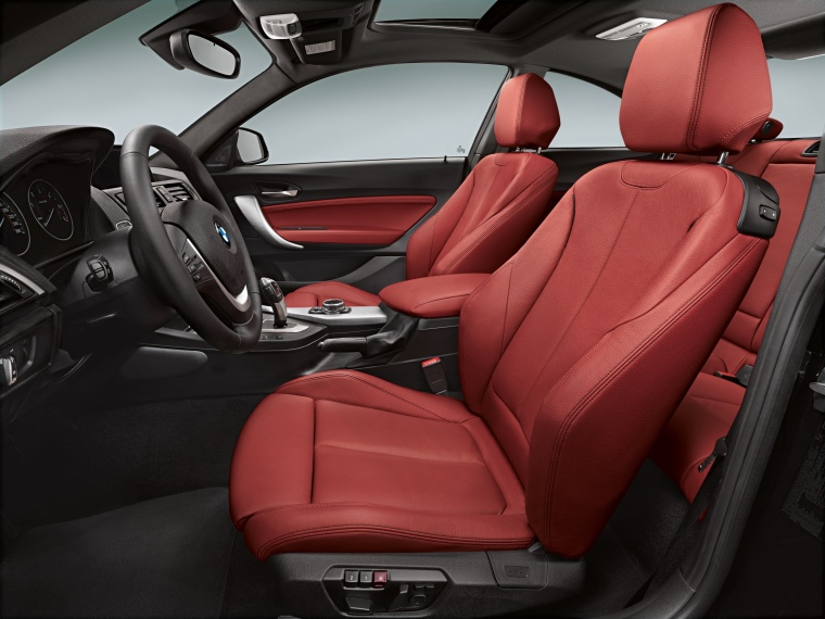2017 BMW 2-Series M Coupe Front Seats in Coral Red