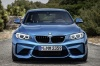2017 BMW M2 Coupe in Long Beach Blue Metallic from a frontal view