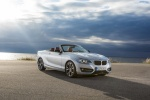 2017 BMW 2-Series Convertible in Glacier Silver Metallic - Static Front Right Three-quarter View