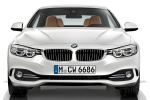 2014 BMW 428i Convertible with top closed in Mineral White Metallic - Static Frontal View