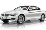 2014 BMW 428i Convertible with top closed in Mineral White Metallic - Static Front Left Three-quarter View