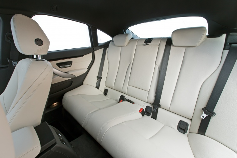 2015 BMW 428i Gran Coupe Rear Seats In Oyster