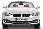 2015 BMW 428i Convertible with open top in Mineral White Metallic - Static Frontal View
