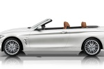2015 BMW 428i Convertible with open top in Mineral White Metallic - Static Side View
