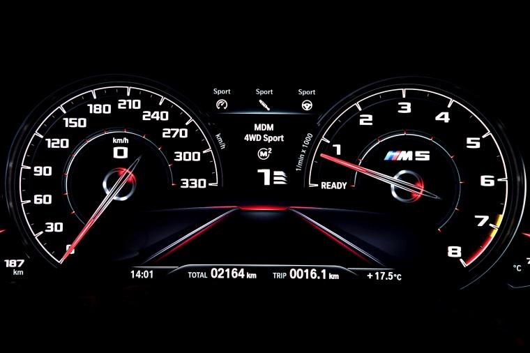 2018 BMW M5 Sedan Gauges Picture