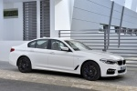 2018 BMW 540i Sedan in Alpine White - Static Front Right Three-quarter View