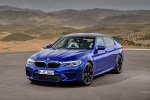 2018 BMW M5 Sedan in Marina Bay Blue Metallic - Static Front Left View